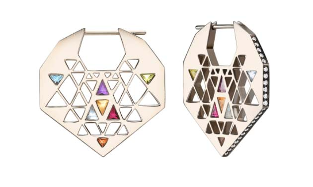 Noor Farres rainbow earrings