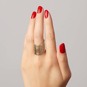 Pasta Inspired Jewelry Alison Lou Penne Ring