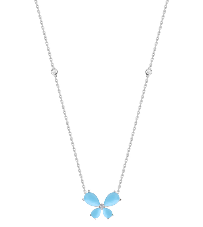 Djula turquoise butterfly necklace