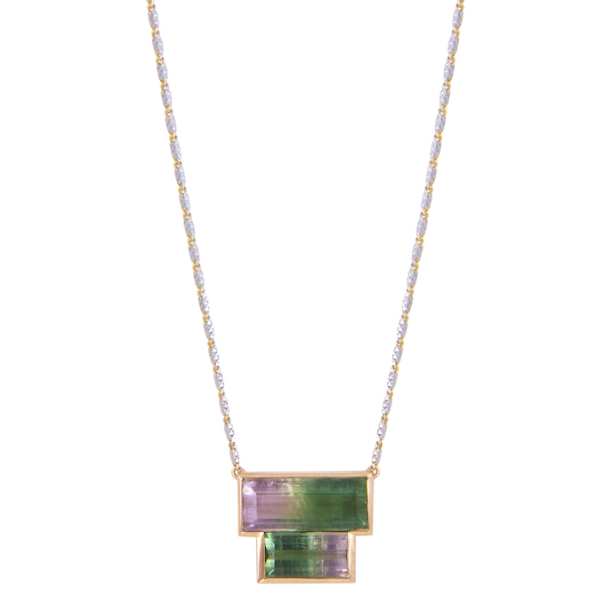 M Spalten Double Brick tourmaline necklace | JCK On Your Market