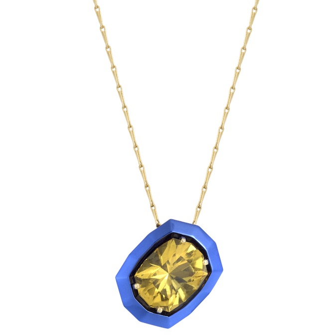 The Rock Hound Chromanteq heliodor pendant | JCK On Your Market