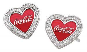 Coca Cola CZ earrings