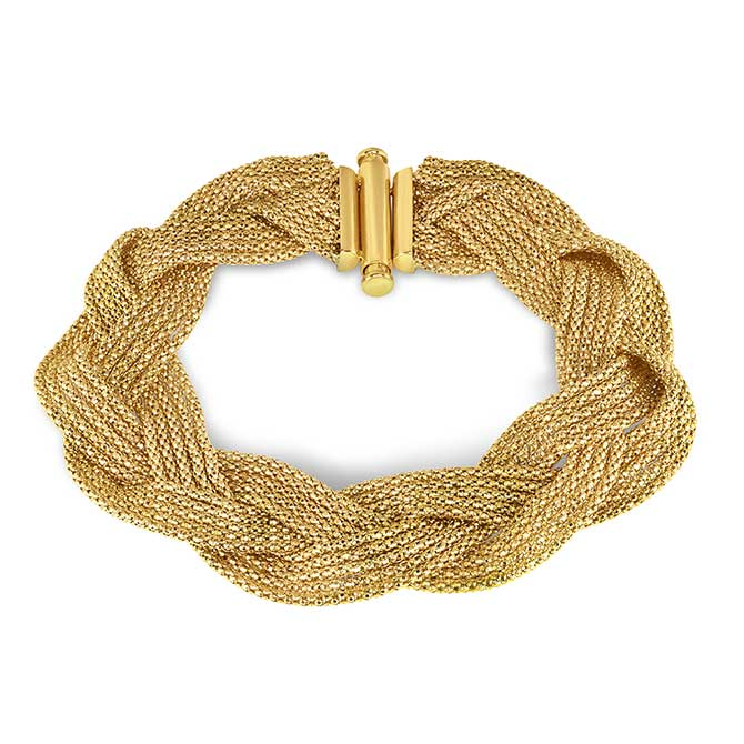 Phillip Gavriel Gold Braided Weave Bracelet