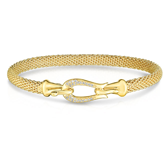 Phillip Gavriel Gold Diamond Bangle