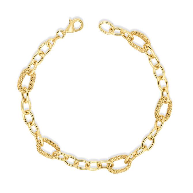 Phillip Gavriel Small Link Gold Bracelet