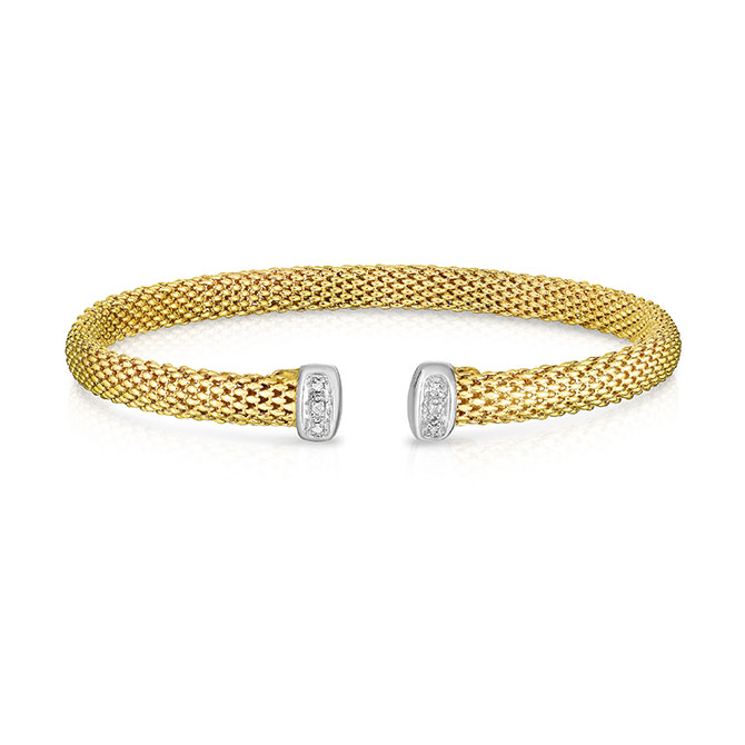 Phillip Gavriel gold and diamond cuff