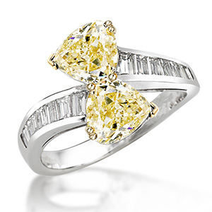 Picchiotti yellow pear shape diamond engagement ring