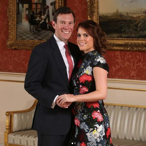 Jack Brooksbank Princess Eugenie official engagement portrait