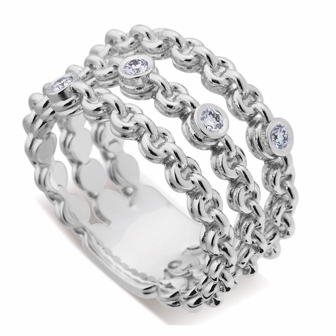 John Atencio Confetti tanzanite ring