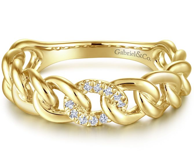 Gabriel and Co. stackable link ring