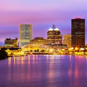 Rochester New York at night