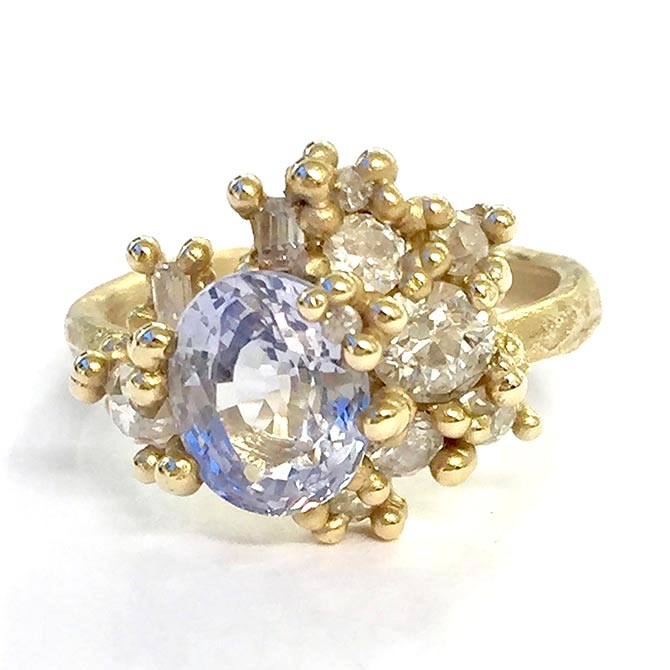 Ruth Tomlinson Blue-Sapphire-and-Diamond Conversion Ring