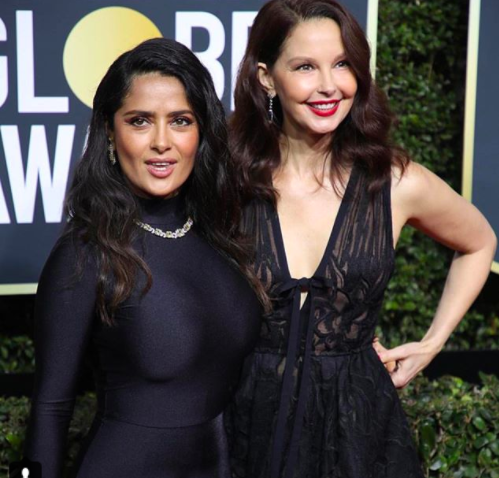 Salma Hayek Ashley Judd Golden Globes