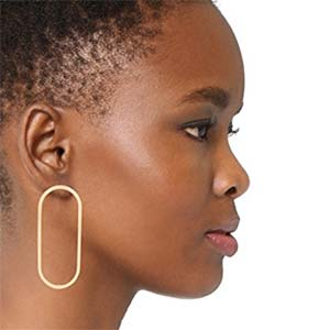 Shashi Oblong Hoop earrings