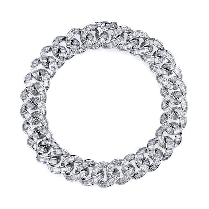 Shay Baguette Diamond Link Bracelet