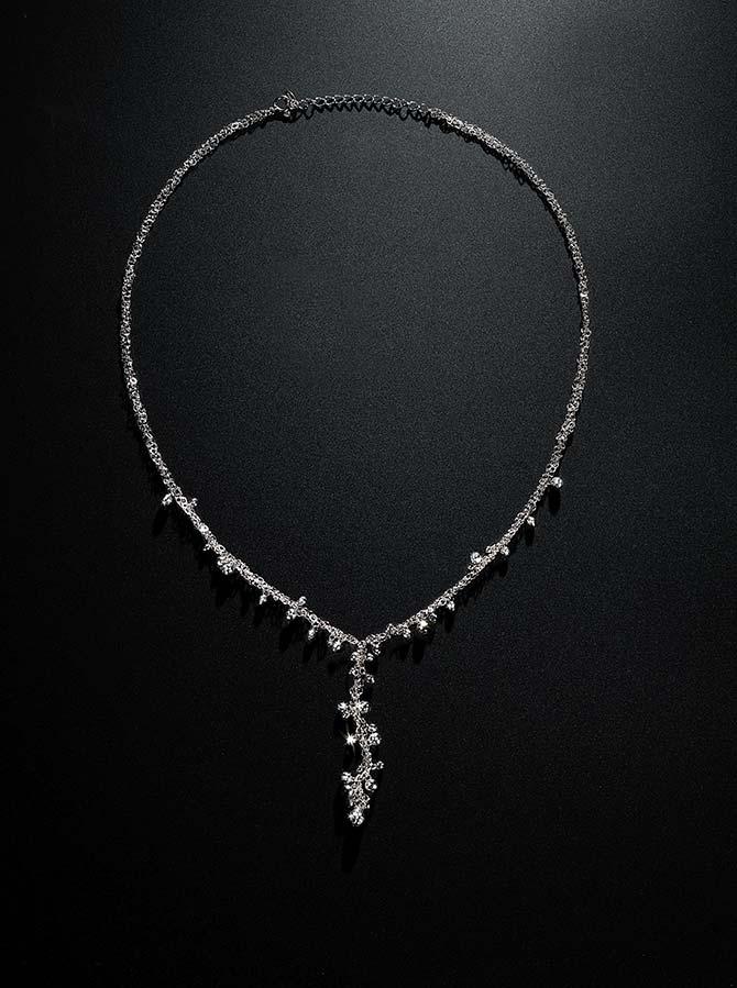 Suna Bros Double Chain Platinum Y Necklace
