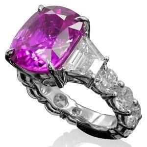 Tal Barkel pink sapphire Panther ring