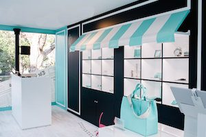 Tiffany pop up store interior