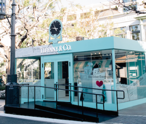 Tiffany blue box pop up store at The Grove