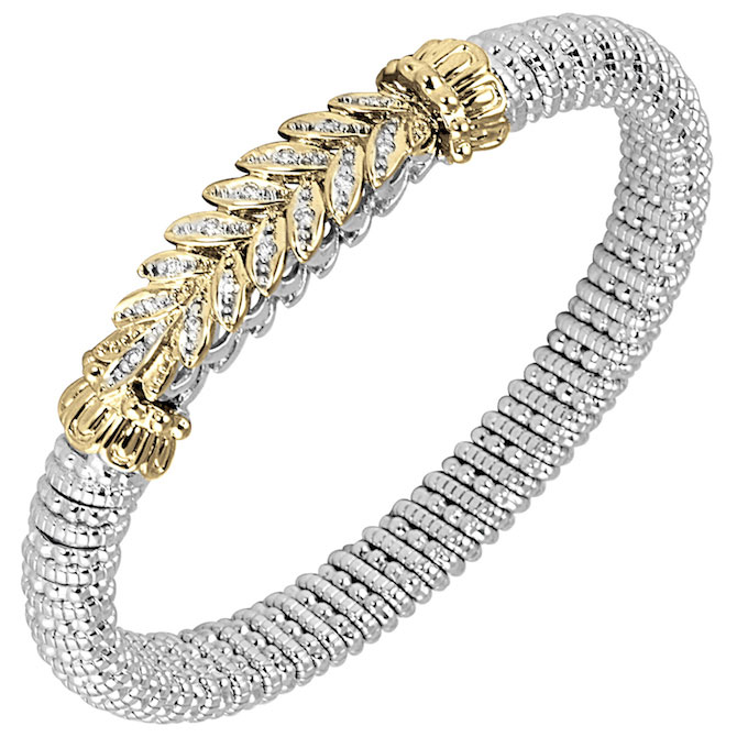 VAHAN bracelet with diamonds and gold and silver