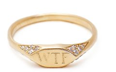 Vanessa Lianne wtf signet ring with pave diamonds life coach event