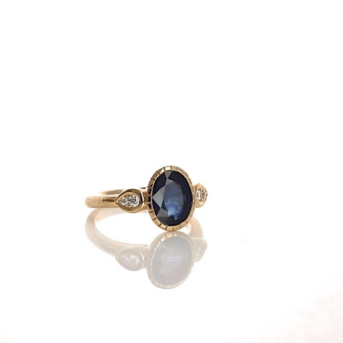Yulia Chorna Three Stone Engagement Ring