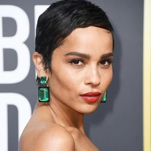 Zoe Kravitz in Lorraine Schwartz earrings