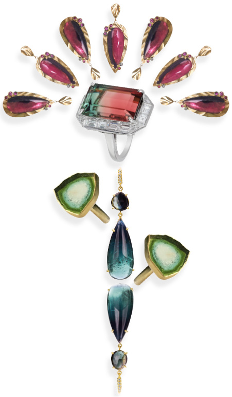 bicolor tourmaline jewelry