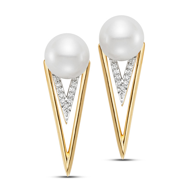 mastoloni pearl gold and diamond earrings