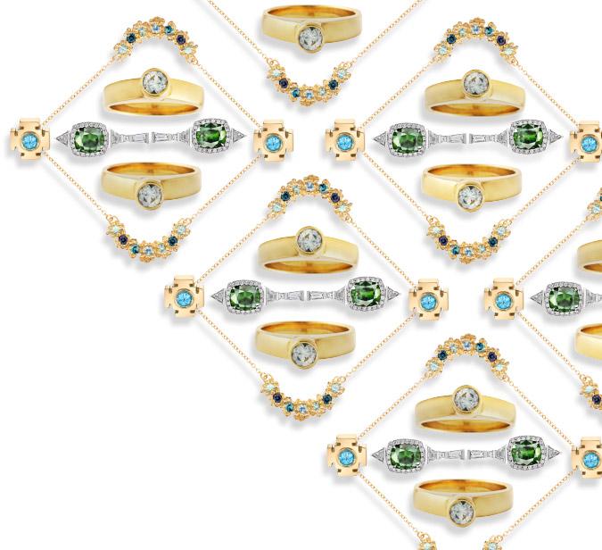 blue green sapphire jewelry
