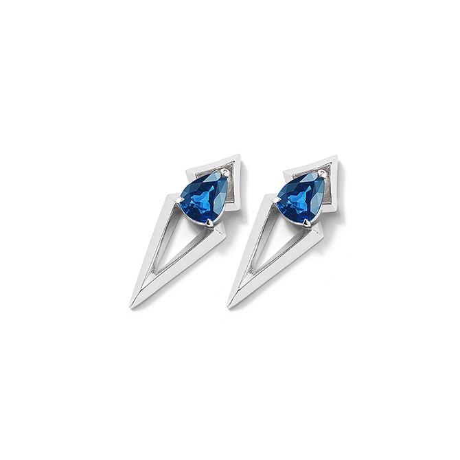 valani arris sapphire drop earrings