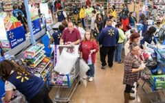 walmart store checkout lines cashiers