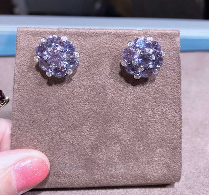 Aaron Henry Lavender Spinel Earrings