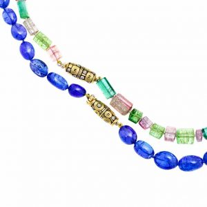 Alex Sepkus tourmaline and tanzanite beaded necklaces