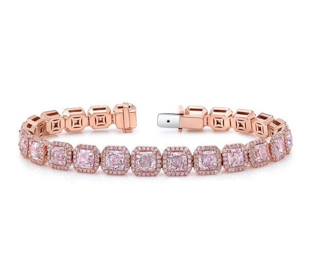 Ounce Collection pink diamond bracelet
