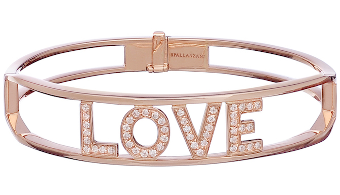 Spallanzani rose gold love bracelet