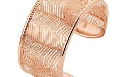 Breuning rose gold plated cuff