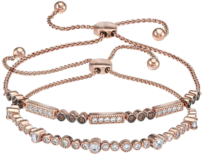 Variety Gem adjustable rose gold bracelets