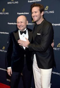 Breitling CEO Georges Kern with Armie Hammer
