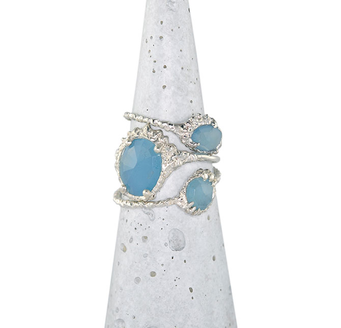 CFD Aquamarine Ring Stack
