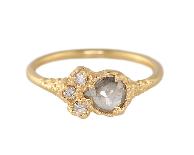 CFD Pear Grey Diamond Ring