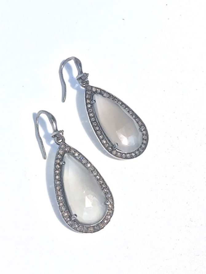 Caryn Michelle moonstone earrings
