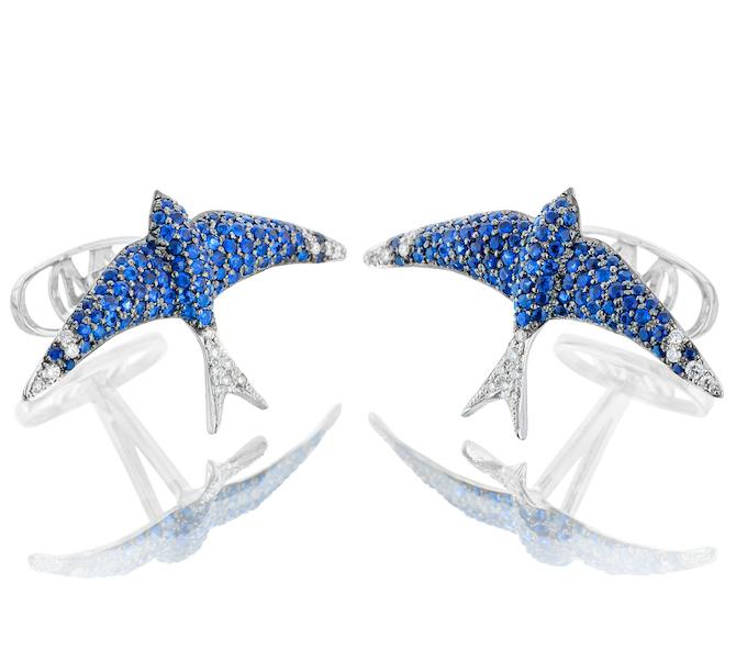 Oh My Got Blue Bird cufflinks
