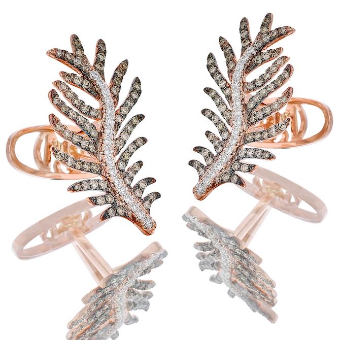 Oh My Got Feathery Charm cufflinks