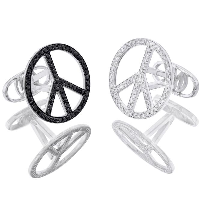 Oh My Got A Cuff for Peace cufflinks