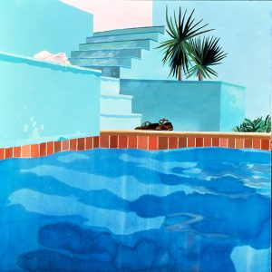David Hockney Exhibit Pool and Steps Le Nid du Duc