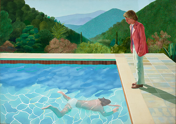David Hockney Exhibit Portrait of an Artist Pool with Two Figures