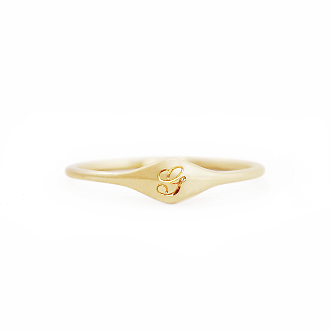 Diana Mitchell Gold Signet Ring