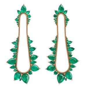 Fernando Jorge Eletric Shock emerald earrings