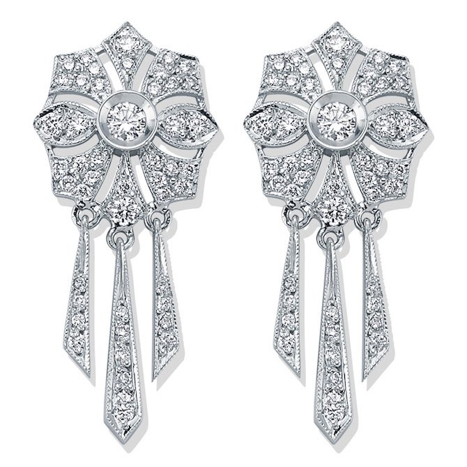 Melis Goral Paris diamond earrings